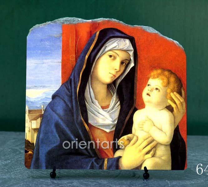 Madonna with Child by Giovanni Bellini Oil Painting Reproduction on Marble Slab