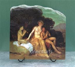 Apollo Hyacinthus and Cyparis Singing and Playing by Alexander Andreyevich Ivanov Oil Painting Reproduction on Marble Slab