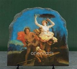 Apollo and Daphne by Giovanni Battista Tiepolo Oil Painting Reproduction on Slate