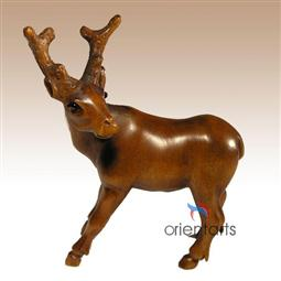Boxwood Netsuke Deer