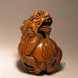 Boxwood Netsuke Dragon
