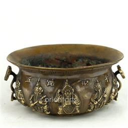 Brass Five Wealth Gods Incense Burner