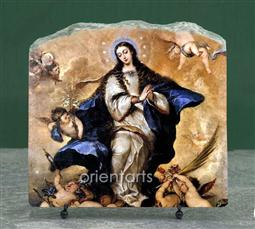 Immaculate Conception by Jose Claudio Antolinez Oil Painting Reproduction on Marble Slab