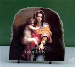Madonna Delle Arpie by Andrea del Sarto Oil Painting Reproduction on Marble Slab