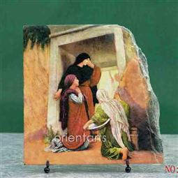 The Woman at the Tomb Oil Painting Reproduction on Slate