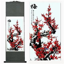 Plum Flower Chinese Silk Painting