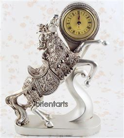 Standing Horse Tabletop Clock
