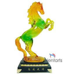 Standing Liuli Horse for Success Feng Shui