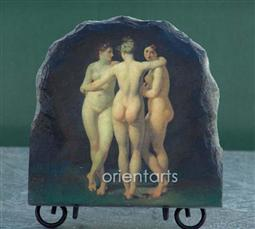 The Three Graces by Jean Baptiste Regnault Oil Painting Reproduction on Slate