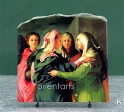 The Visitation by Jacopo da Pontormo Oil Painting Reproduction on Marble Slab
