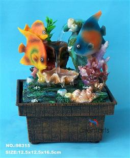 Tropical Fish Mini USB Power Water Fountain