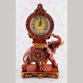 Antique Elephant Desktop Clock