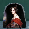 Amalie Von Schintling by Joseph Karl Stieler Oil Painting Reproduction on Marble Slab
