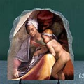 Ancestors of Christ Figures by Lodovico Buonarroti Simoni Michelangelo Oil Painting Reproduction on Marble Slab