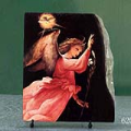 Angel Annunciating by Lorenzo Lotto Oil Painting Reproduction on Marble Slab