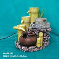 Bamboo and Stone Mill Water Fountain