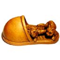 Boxwood Netsuke 2 Rats on Shoe