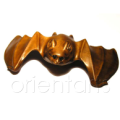 Boxwood Netsuke Bat