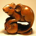 Boxwood Netsuke Mouse