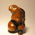 Boxwood Netsuke Rabbit
