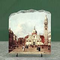 Campo Santa Maria Formosa by Canaletto Oil Painting Reproduction on Marble Slab
