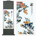Chrysanthemum Chinese Silk Painting