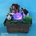 Double Cows USB Power Mini Water Fountain