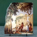 Family Meal by Giovanni Domenico Tiepolo Oil Painting Reproduction on Marble Slab