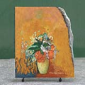 Flowers in a Vase by Odilon Redon Oil Painting Reproduction on Marble Slab