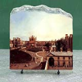 London Whitehall and the Privy Garden from Richmond House by Canaletto Oil Painting Reproduction on Marble Slab