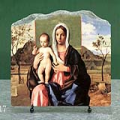 Madonna and Child by Giovanni Bellini Oil Painting Reproduction on Marble Slab