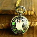 Owl Metal Pocket Watch