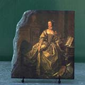 Portrait of Marquise de Pompadour by Francois Boucher Oil Painting Reproduction on Stone