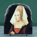 Portrait of a Lady by Rogier van der Weyden Oil Painting Reproduction on Marble Slab
