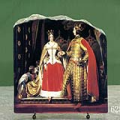 Queen Victoria and Prince Albert at the Bal Costume by Edwin Henry Landseer Oil Painting Reproduction on Marble Slab