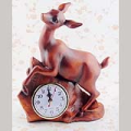Rosewood Color Deer Desktop Clock