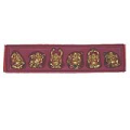 Small Set 6 Pieces Golden Laughing Buddha