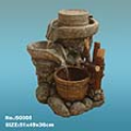 Stone Mill with Cask Water Fountain