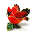 The Beautiful Red Bird Trinket Box