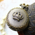The Crown Metal Pocket Watch