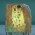 The Kiss by Gustav Klimt Oil Painting Reproduction on Marble Slab