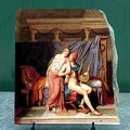 The Loves of Paris and Helen by Jacques Louis David Oil Painting Reproduction on Marble Slab