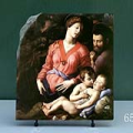 The Panciatichi Holy Family by Agnolo Bronzino Oil Painting Reproduction on Marble Slab