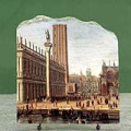 The Piazzetta from the Bacino di San Marco by Gaspar Van Wittel Oil Painting Reproduction on Marble Slab