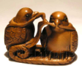 Wood Netsuke Bird