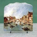 the Three Arched Bridge at Cannaregio by Francesco Guardi Oil Painting Reproduction on Marble Slab