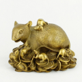 Brass Wealthy Rat Family on Treature